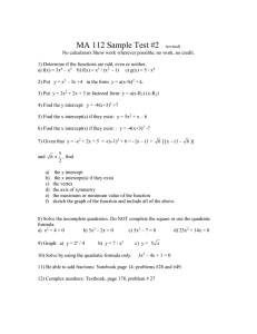 MA 112 Sample Test #2
