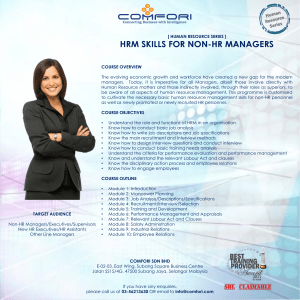 HRM SKILLS FOR NON-HR MANAGERS