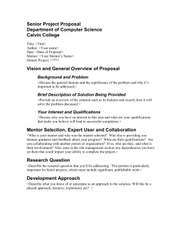 computer science project proposal sample pdf