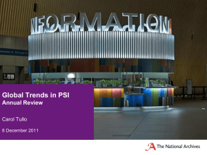 Global Trends in PSI Annual Review Carol Tullo 8 December 2011