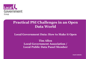Practical PSI Challenges in an Open Data World