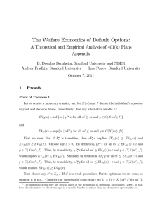 The Welfare Economics of Default Options: Appendix