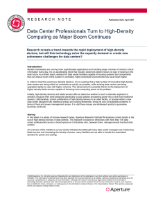 Data Center Professionals Turn to High-Density Computing as Major Boom Continues