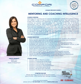 MENTORING AND COACHING INTELLIGENCE