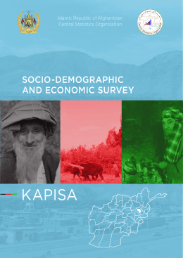 KAPISA SOCIO-DEMOGRAPHIC AND ECONOMIC SURVEY Islamic Republic of Afghanistan