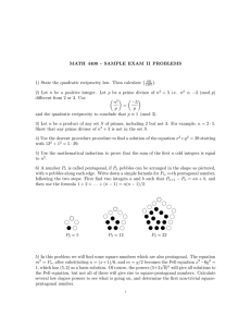 MATH 4400 - SAMPLE EXAM II PROBLEMS .