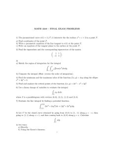 MATH 2210 - FINAL EXAM PROBLEMS , t