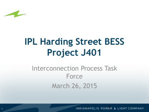 IPL Harding Street BESS Project J401 Interconnection Process Task Force