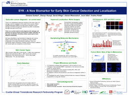 SYK - A New Biomarker for Early Skin Cancer Detection...  Early skin cancer diagnosis - an unmet need