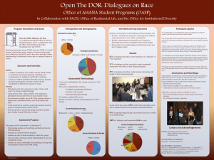 Intended Learning Outcomes Program Description and Goals Participation and Demographics Participant Quotes