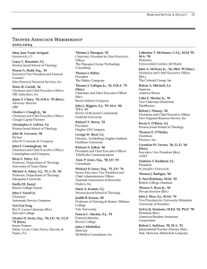 Trustee Associate Membership 2003-2004 Administration & Faculty     15