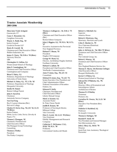 Trustee Associate Membership 2005-2006 Administration & Faculty     13