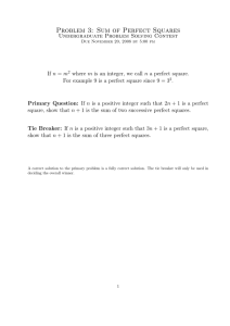 Problem 3: Sum of Perfect Squares