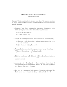 Math 3210 Exam I Sample Questions September 26, 2006