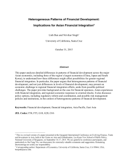 Heterogeneous Patterns of Financial Development: Implications for Asian Financial Integration
