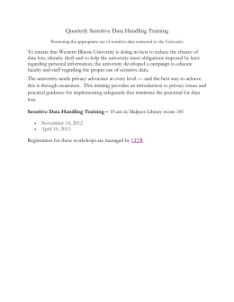 Quarterly Sensitive Data Handling Training
