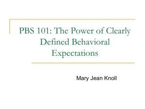 PBS 101: The Power of Clearly Defined Behavioral Expectations
