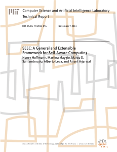 SEEC: A General and Extensible Framework for Self-Aware Computing Technical Report
