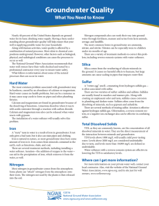 Groundwater Quality What You Need to Know