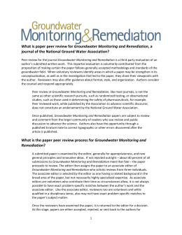Groundwater Monitoring and Remediation journal of the National Ground Water Association?