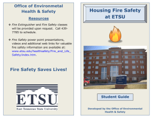 Housing Fire Safety at ETSU Office of Environmetal Health & Safety