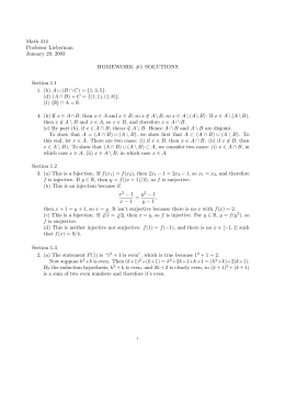 Group theory homework solutions