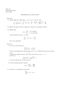 Math 414 Professor Lieberman May 6, 2003 HOMEWORK #13 SOLUTIONS