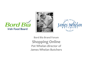 Shopping Online Pat Whelan director of James Whelan Butchers Bord Bia Brand Forum
