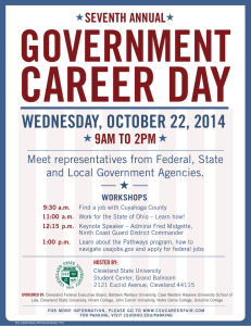 CAREER DAY GOVERNMENT WEDNESDAY, OCTOBER 22, 2014 9AM TO 2PM