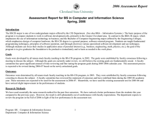2006 Assessment Report Spring, 2006 Introduction