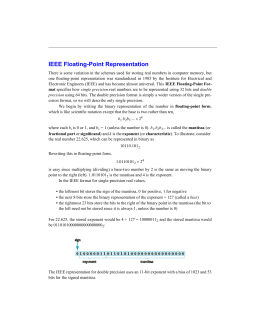 IEEE Floating-Point Representation