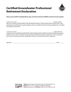 Certified Groundwater Professional Retirement Declaration NGWA