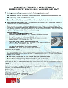 ● GRADUATE OPPORTUNITIES IN ARCTIC RESEARCH