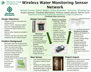 Wireless Water Monitoring Sensor Network Design Objectives Design Concepts