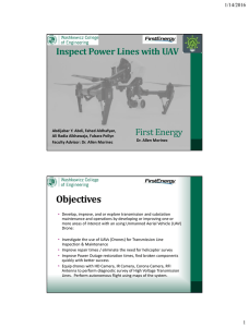 Inspect Power Lines with UAV First Energy 1/14/2016