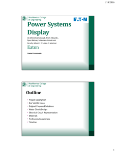 Power Systems Display 1/14/2016