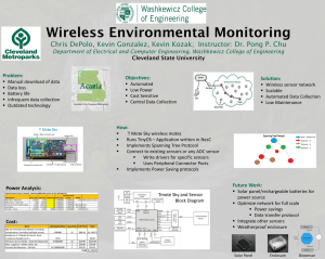 Wireless Environmental Monitoring Cleveland State University