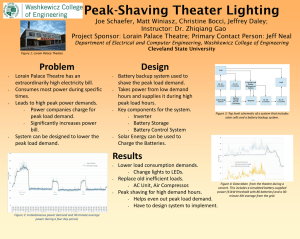 Peak-Shaving Theater Lighting