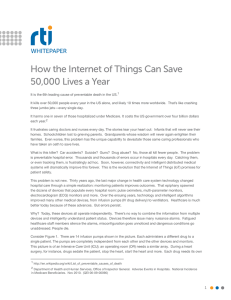 How the Internet of Things Can Save 50,000 Lives a Year WHITEPAPER