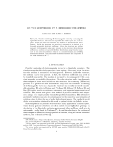 ON THE SCATTERING BY A BIPERIODIC STRUCTURE