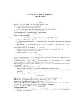 REVIEW SHEET FOR MIDTERM #1 MATH 2280-2 1. Theory