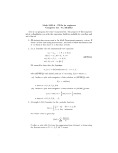Math 3150-4 – PDEs for engineers Computer lab – 01/23/2012