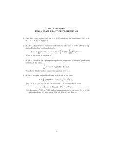 MATH 5610/6860 FINAL EXAM PRACTICE PROBLEMS #1