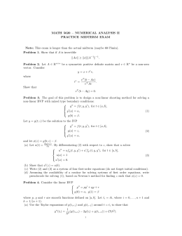MATH 5620 – NUMERICAL ANALYSIS II PRACTICE MIDTERM EXAM