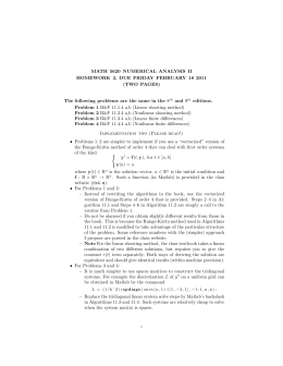 MATH 5620 NUMERICAL ANALYSIS II (TWO PAGES)