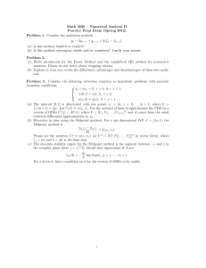 Math 5620 – Numerical Analysis II Practice Final Exam (Spring 2012)