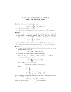 MATH 5620 – NUMERICAL ANALYSIS II PRACTICE MIDTERM EXAM h
