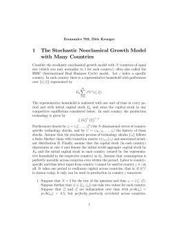1 The Stochastic Neoclassical Growth Model with Many Countries