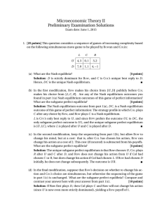 Microeconomic Theory II Preliminary Examination Solutions