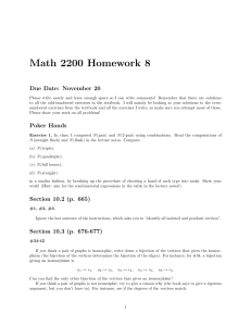 Math 2200 Homework 8 Due Date: November 20
